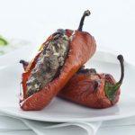 Bagte peberfrugter med oksekød & tzatziki