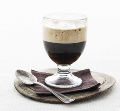 Irish coffee med moccaskum