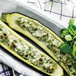 squash med ærter og urter