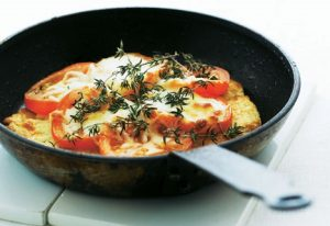 Pandestegt tomatpizza