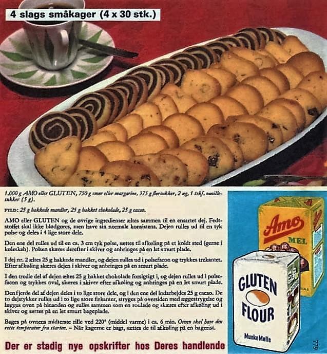 4 slags småkager