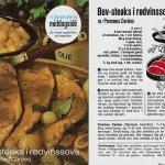 Bov-steaks i rødvinssovs