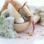Grøn æggesalat