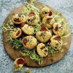 Små muffins med chorizopølse