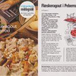 Flæskeragout i peberrod